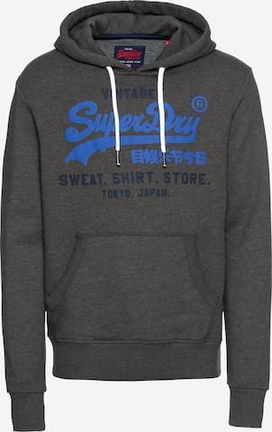 Superdry Sweatshirt 'Shop Duo' in Grey