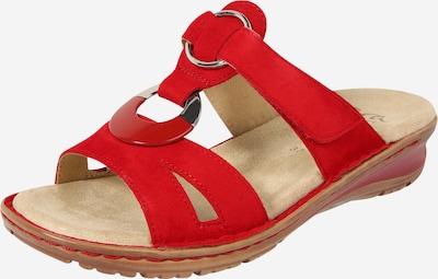 ARA Sandales à lanières 'Samtchevro' en marron / rouge / argent, Vue avec produit