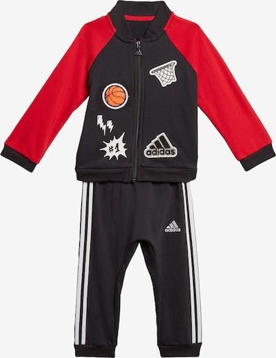 ADIDAS PERFORMANCE Trainingsanzug in rot / schwarz / weiß, Produktansicht