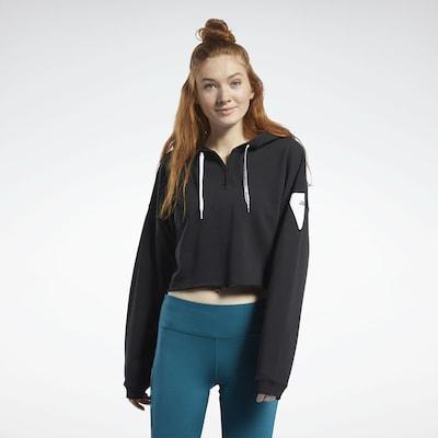 REEBOK Sweatshirt in schwarz / weiß: Frontalansicht