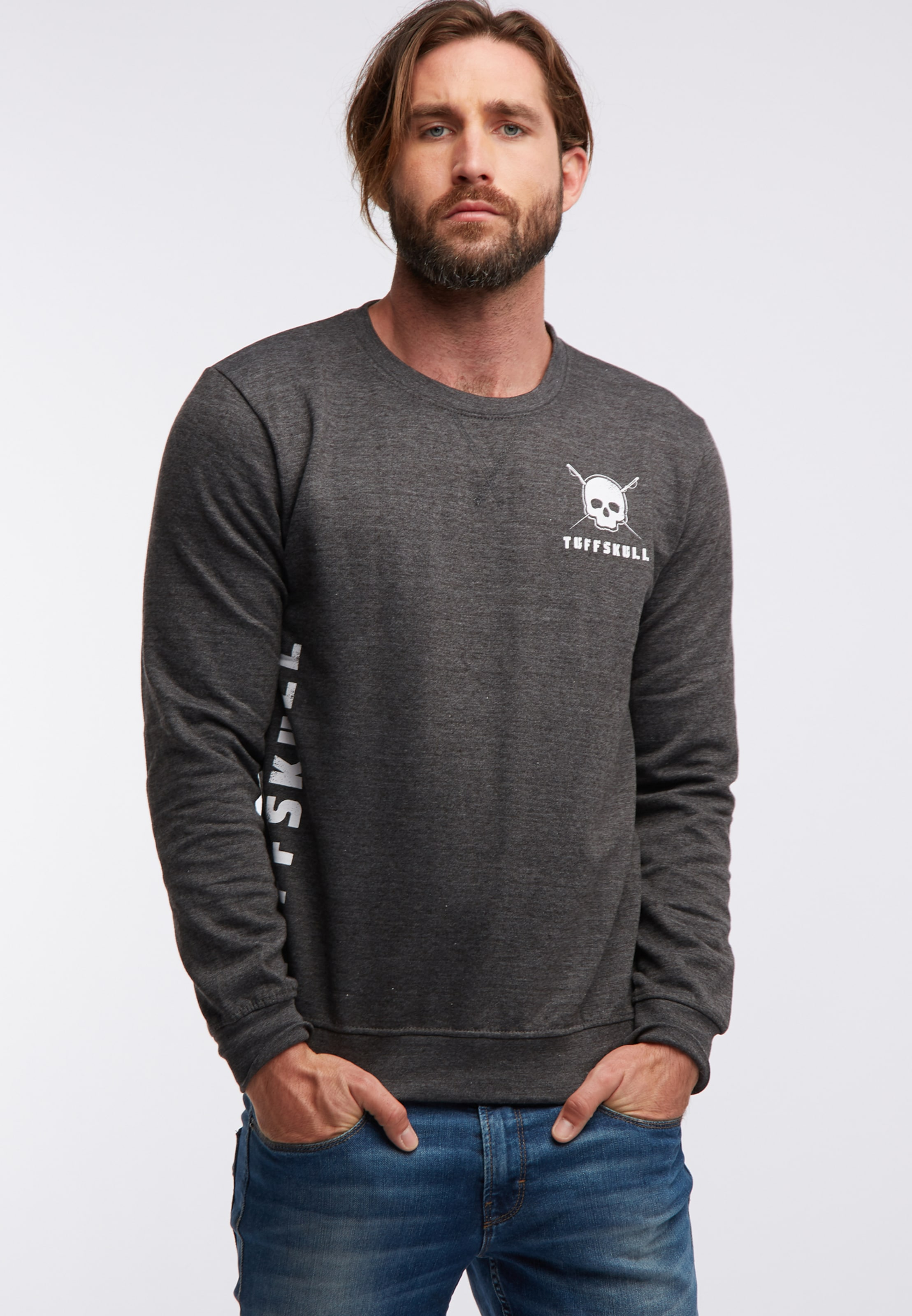 Sweatshirt Tuffskull Tuffskull DunkelgrauWeiß DunkelgrauWeiß Sweatshirt In In Tuffskull YIeWH29EDb