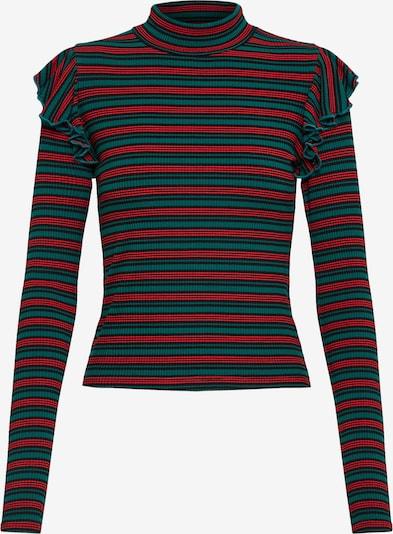 Urban Classics Shirt in grün / rot / schwarz, Produktansicht