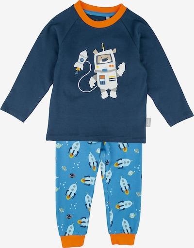 SIGIKID Schlafanzug in himmelblau / dunkelblau / orange, Produktansicht