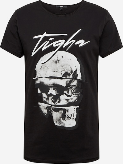tigha Shirt  'Splitted Wren' in schwarz / weiß, Produktansicht