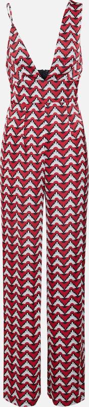Missguided Blanc Asymmetric Combinaison 'geo Jumpsuit' RougeNoir Leg Flared En ymNw8v0On