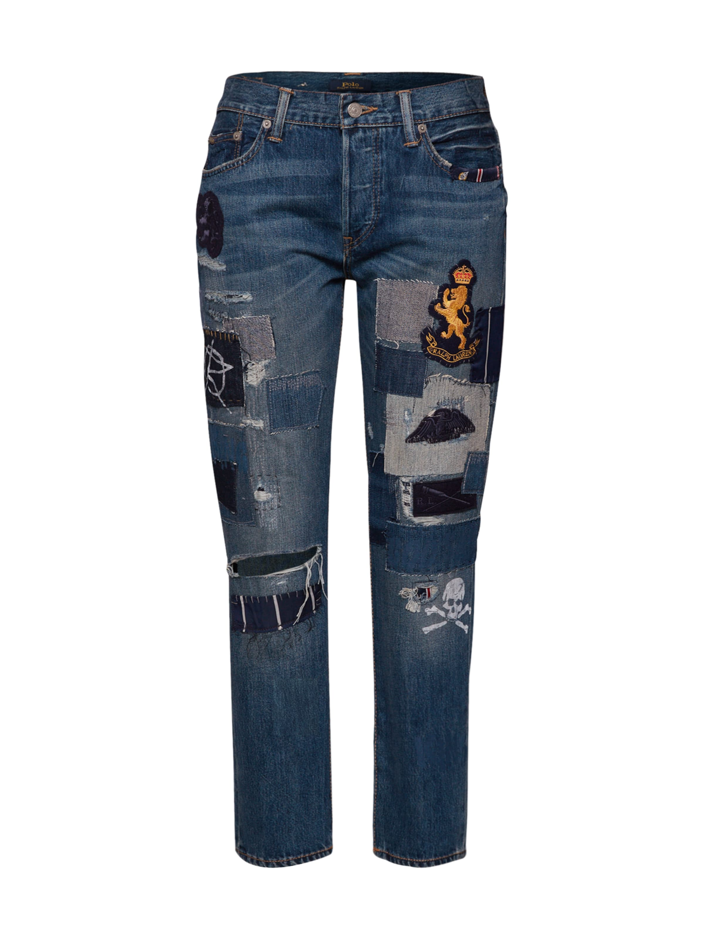 Polo straight Ralph denim' Lauren Jean En Bleu 'waverly Crop Denim ZukPXi