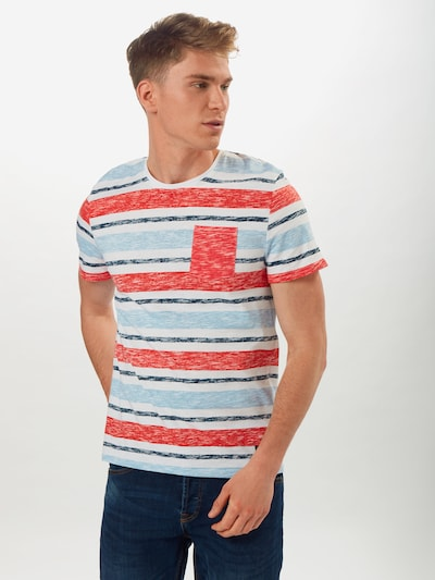 Hailys Men T-Shirt 'Neil' en bleu marine / rouge: Vue de face