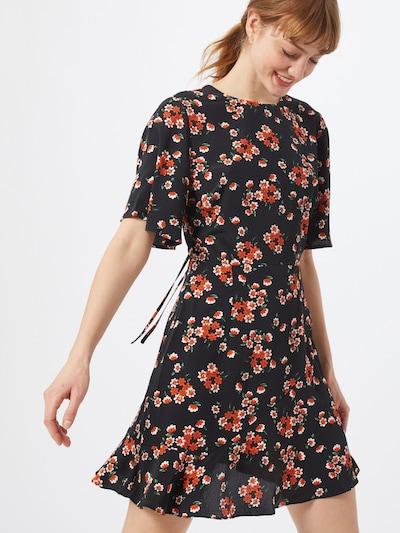 Fashion Union Kleid  'DORIS' in blau / orange, Modelansicht