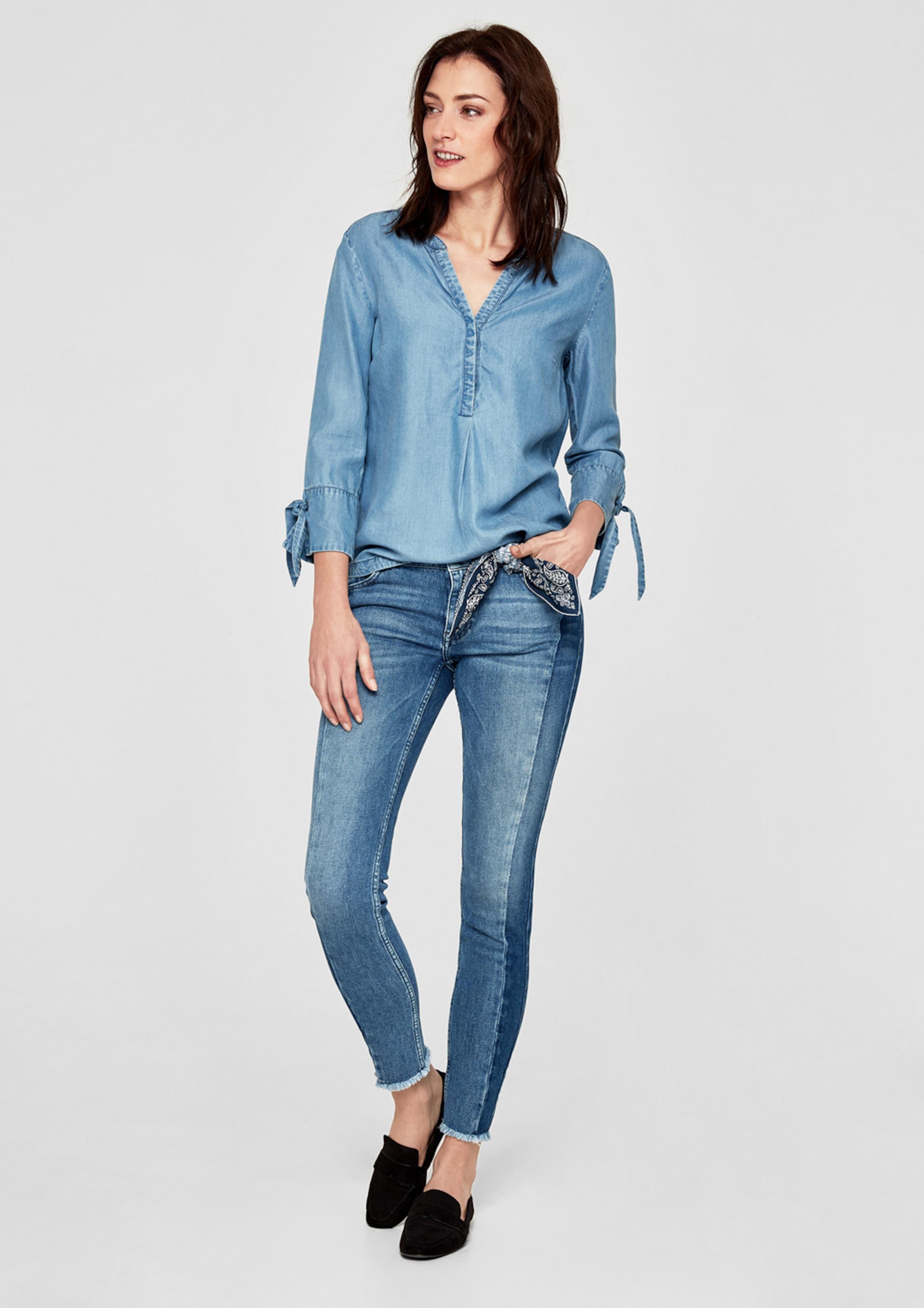 s.Oliver RED LABEL Shape Ankle: Patchwork-Jeans 2018 Unisex Verkauf Online Wo Niedrigen Preis Kaufen 11LOpRz5r