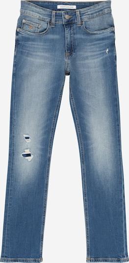 Calvin Klein Jeans Kavbojke 'SLIM MNGRM LIGHT DESTR STR' | moder denim barva, Prikaz izdelka