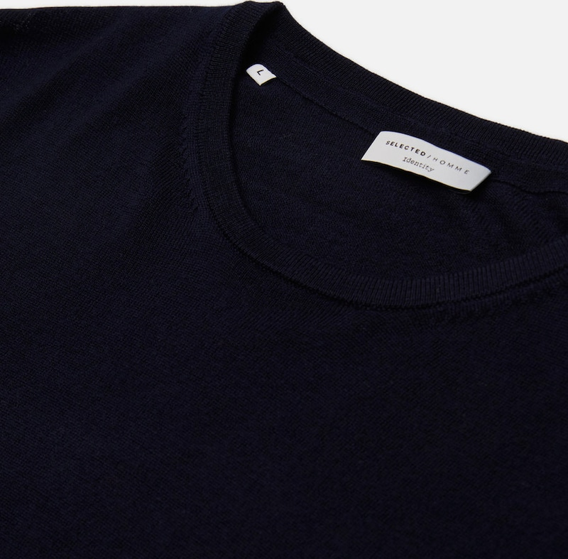 SELECTED HOMME Strickpullover Merinowoll