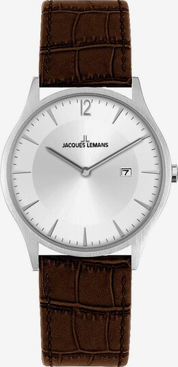 Jacques Lemans Uhr 'Classic, 1-2028B' in braun / silber, Produktansicht