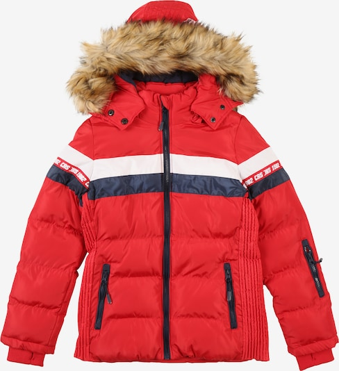 Cars Jeans Jacke 'KIDS NOVALIE POLY' in blau / rot: Frontalansicht