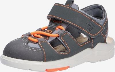 Pepino Sandale in hellgrau / graumeliert / neonorange, Produktansicht