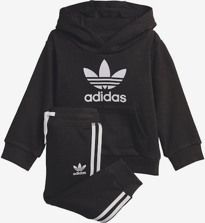 ADIDAS ORIGINALS Sweat suit in black / white, Item view