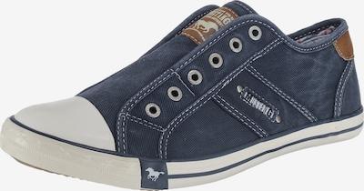 MUSTANG Slip on boty - modrá / hnědá, Produkt