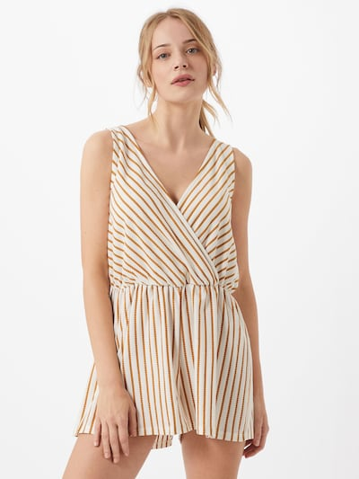 ONLY Jumpsuit 'Becky' in de kleur Geel / Offwhite, Modelweergave