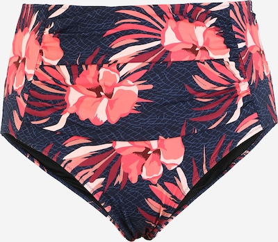 Swim by Zizzi Bikinihose 'STELLA' in dunkelblau / pink, Produktansicht