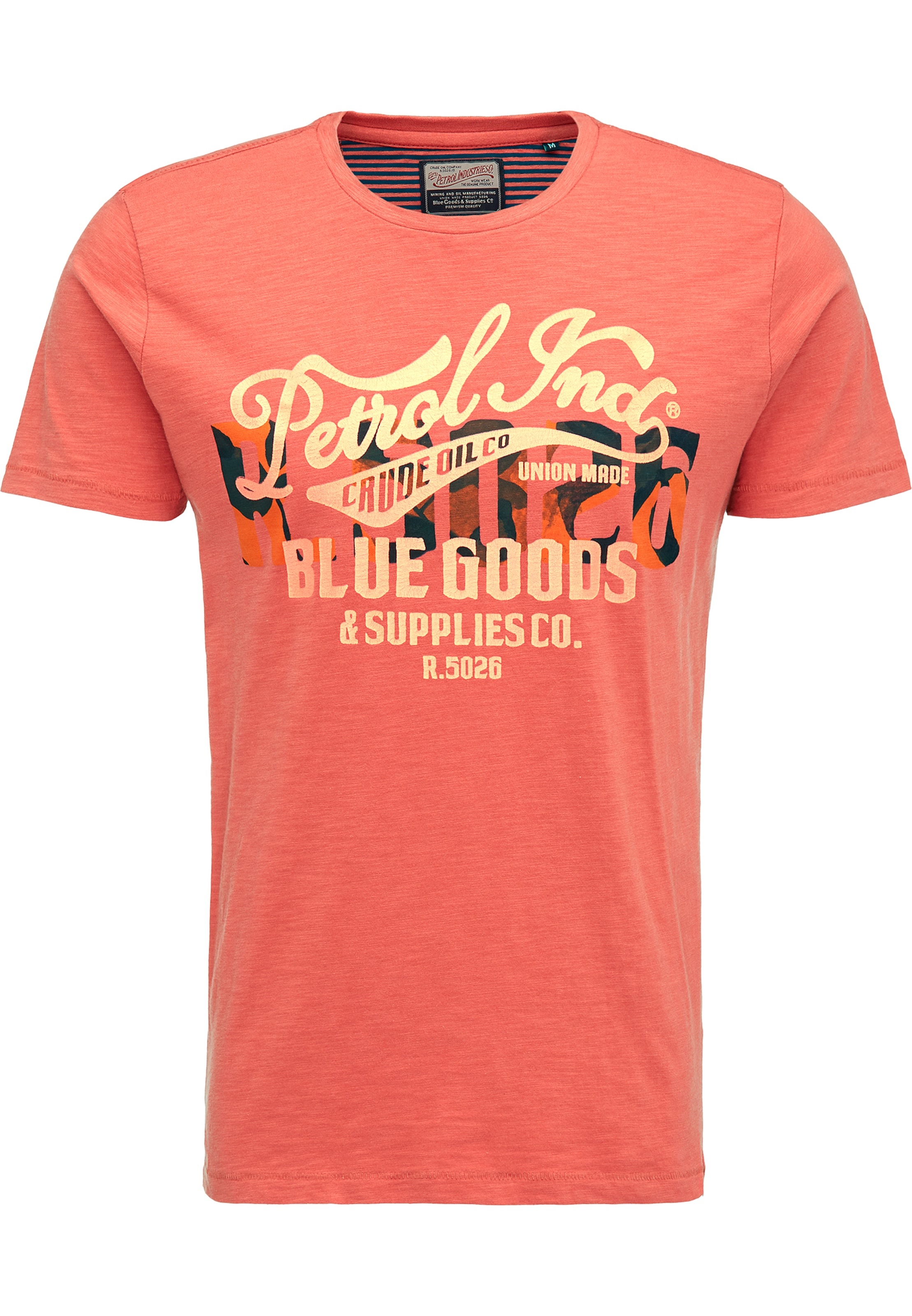 T shirt Foncé Petrol Industries Orange En XiZkTOPu