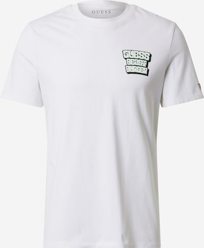 GUESS Shirt 'Best Burger' in mischfarben / weiß, Produktansicht