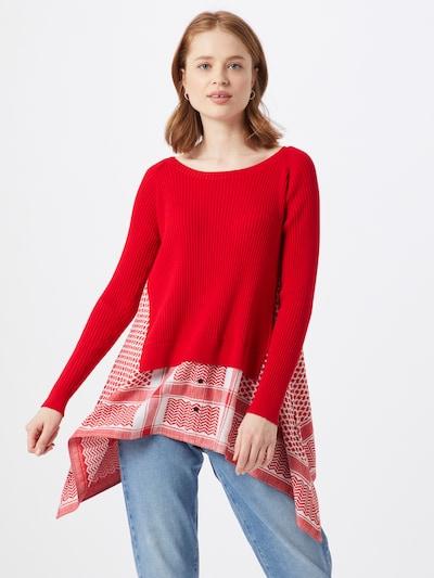 Cecilie Copenhagen Pullover 'Diana' in rot / weiß, Modelansicht