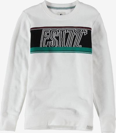 GARCIA Sweatshirt in smaragd / rot / schwarz / weiß, Produktansicht