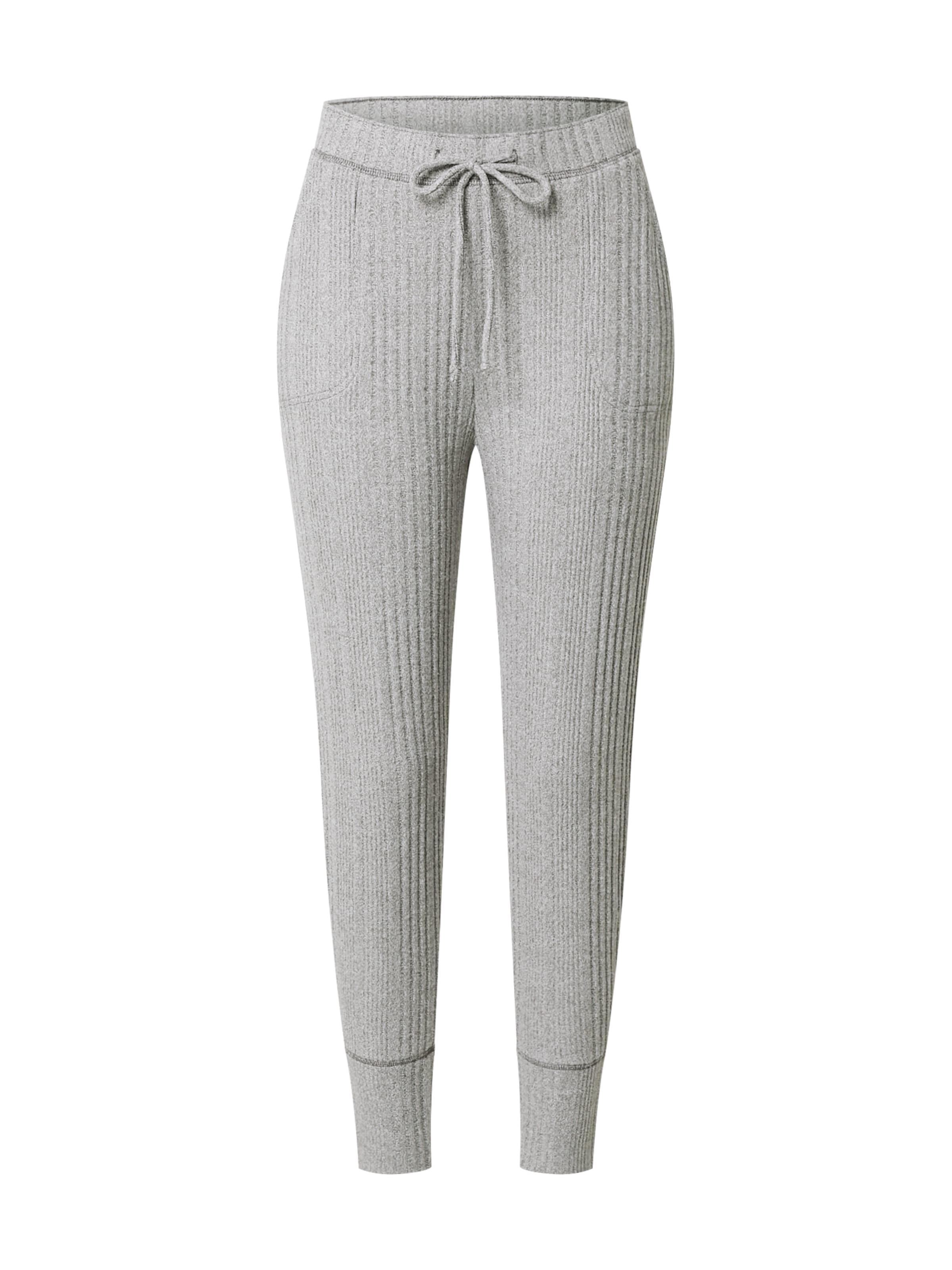 HOLLISTER Pizsama nadrágok világosszürke színben