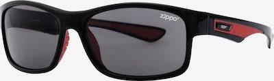 ZIPPO Sonnenbrille 'Sport Smoke Flash Black/Red' in rot / schwarz, Produktansicht