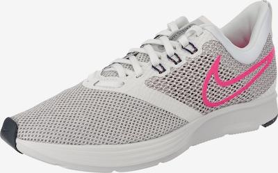 NIKE Laufschuhe 'Zoom Strike' in grau / pink / weiß: Frontalansicht
