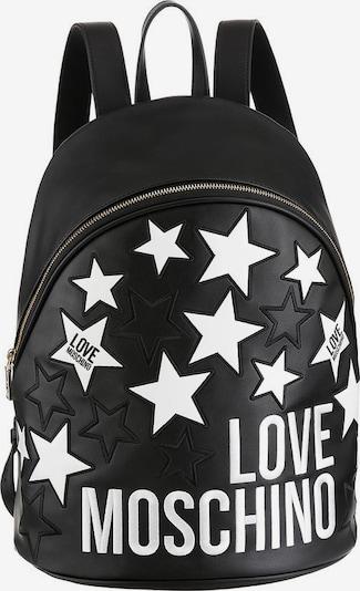 Love Moschino Rucksack in schwarz / weiß, Produktansicht