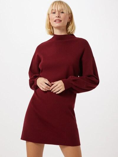 VERO MODA Pletena obleka 'NANCY'   vinsko rdeča barva, Prikaz modela