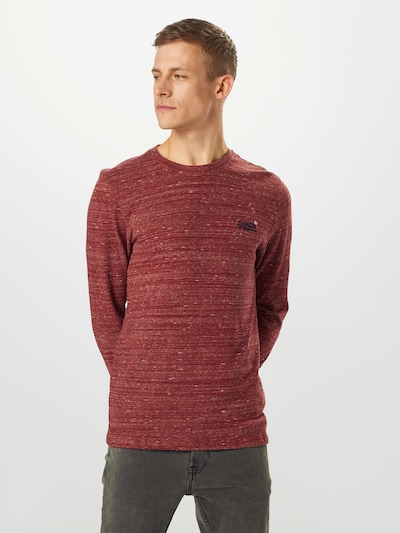 Superdry Shirt in dunkelrot: Frontalansicht