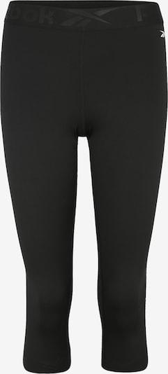 REEBOK Leggings in dunkelgrau / schwarz, Produktansicht