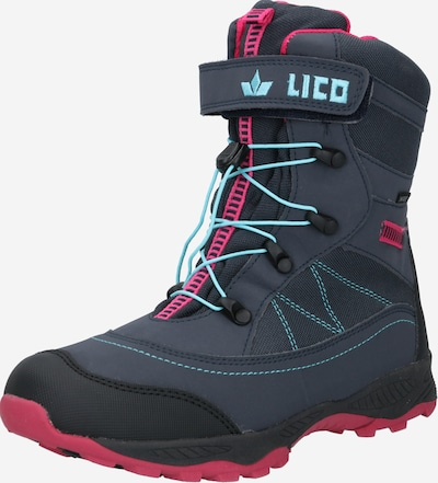 LICO Boots in de kleur Marine / Turquoise / Pink, Productweergave