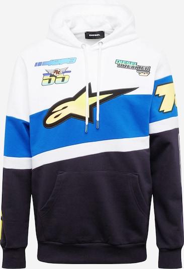 DIESEL Sweater majica 'ASTARS' u plava / mornarsko plava / svijetložuta / bijela, Pregled proizvoda