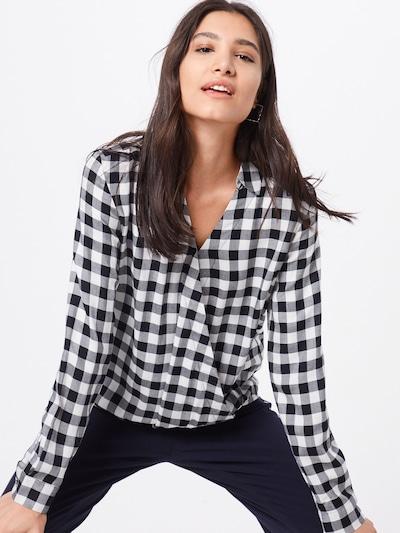 OPUS Bluse 'Frose' in schwarz / weiß, Modelansicht