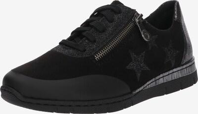 RIEKER Sneakers laag in de kleur Zwart / Zilver: Vooraanzicht