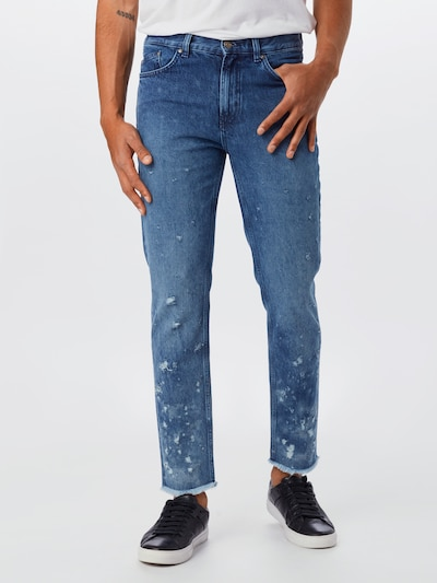 HUGO Jeans in blue denim: Frontalansicht