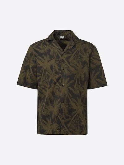 Urban Classics Overhemd in de kleur Olijfgroen / Zwart, Productweergave