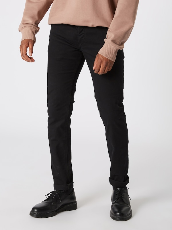 DIESEL Jeans 'Sleenker' in black denim, Modelansicht