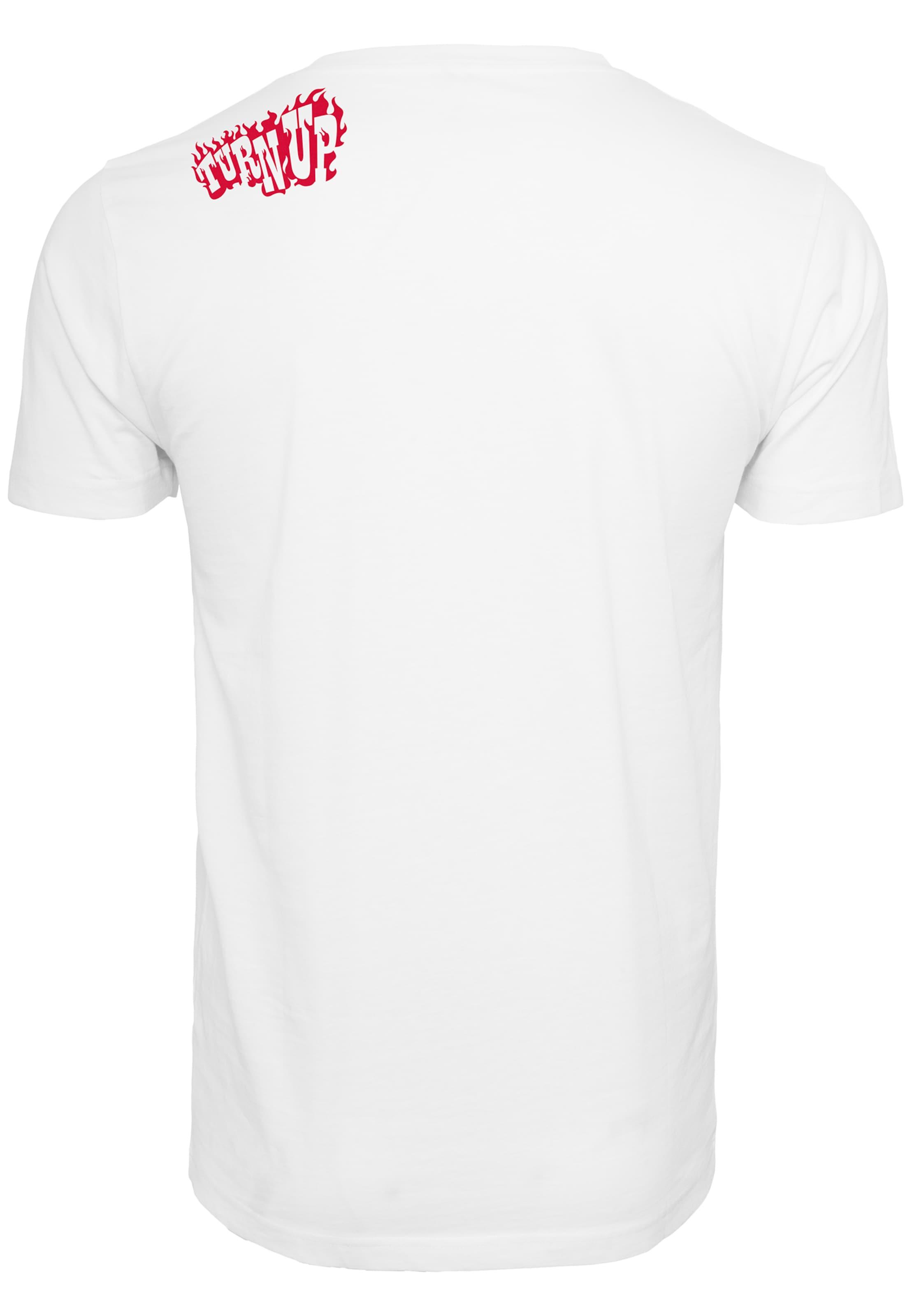 Mister Tee T-Shirt 'Stir Fry Tee' in rot / weiß Baumwolle TU079-00220-0042