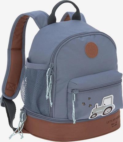 LÄSSIG Rucksack in taubenblau / braun, Produktansicht