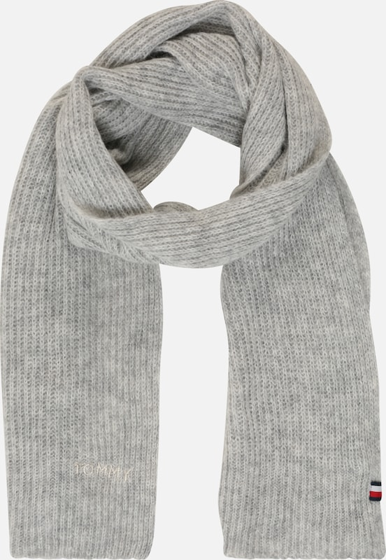 TOMMY HILFIGER Schal 'EFFORTLESS SCARF' in grau, Produktansicht