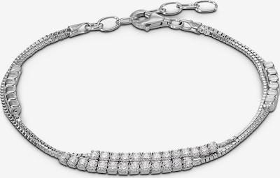 C-Collection Armband in silber / weiß, Produktansicht