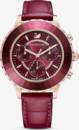 Swarovski Uhr in rosegold / beere, Produktansicht