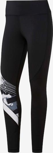 REEBOK Tights 'Workout Ready' in schwarz / weiß, Produktansicht