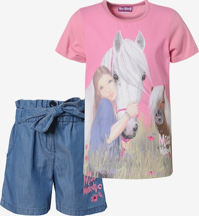Miss Melody Set in blue denim / pink, Produktansicht