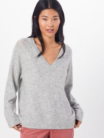 SELECTED FEMME Pull-over 'LANNA' en gris clair, Vue avec modèle