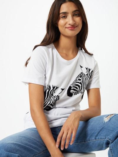 VILA T-shirt en noir / blanc: Vue de face
