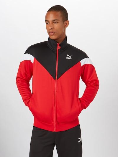 PUMA Športová bunda 'Iconic MCS' - červené / čierna / biela, Produkt